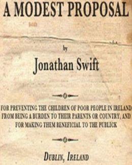 Jonathan swift reason for writing a modest proposal