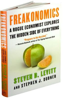 Freakonomics books in the home