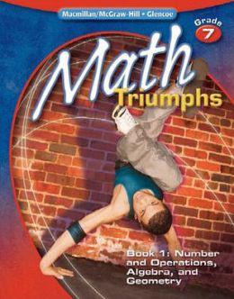 Math Triumphs Grade 7 Student Study Guide Book 1 border=