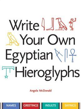 write a name in egyptian hieroglyphics