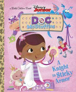 Doc McStuffins Reading Book - Little Golden Book - A Knight in Sticky Armor