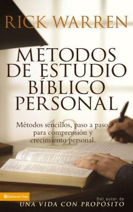 métodos de estudio bíblico personal rick warren pdf