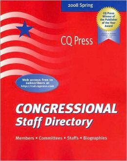 Congressional Staff Directory Spring 2008 Joel Treese