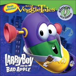 larryboy and the bad apple coloring pages - larryboy and the bad apple by simon scribbles