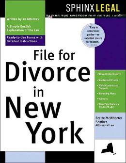 How to File for Divorce in New York Brette McWhorter Sember