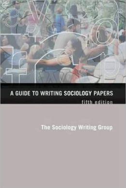 Writing a sociology essay