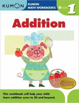grade 1 addition kumon math workbooks by michiko tachimoto paperback barnes noble. Black Bedroom Furniture Sets. Home Design Ideas